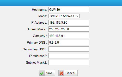 Configure LAN Settings on TA FXO gateway