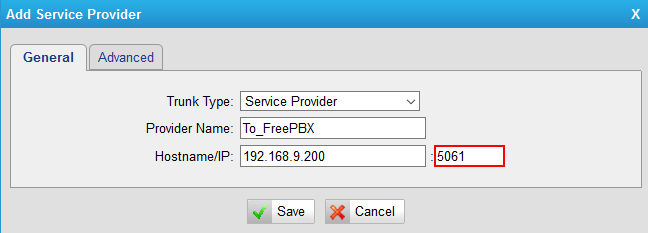 How to Connect FreePBX to Yeastar TE Gateway (Via chan_sip Trunk