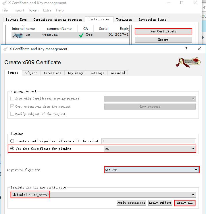 manually create https ssl certificate for yeastar s series ippbx