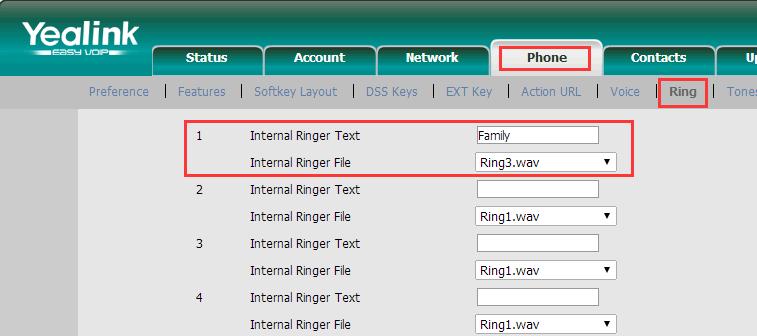How to Setup Distinctive Ringtone – Yeastar Support
