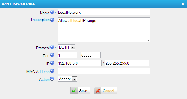 MyPBX Security Configuration Guide(Part 2)--Firewall Configuration