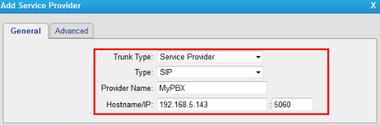 Create a VoIP Trunk on TG800