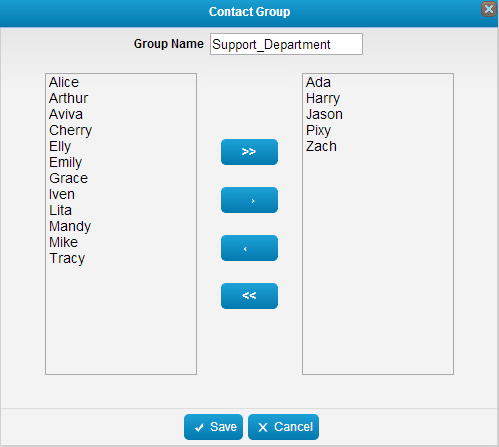 Add contact group on Mysms