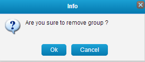 Remove contact group on MySMS