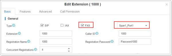 S-Series VoIP PBX Edit Extension